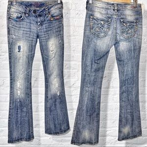 """Size 26 silver jeans 33"""" distressed Tuesday"""
